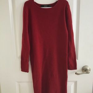Red mini sweater dress tight fitting forever 21